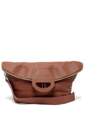 Grained-leather tote bag
