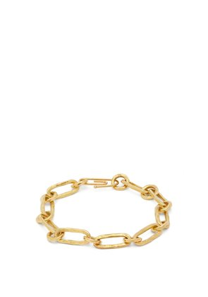 Hammered Chain 18kt gold bracelet