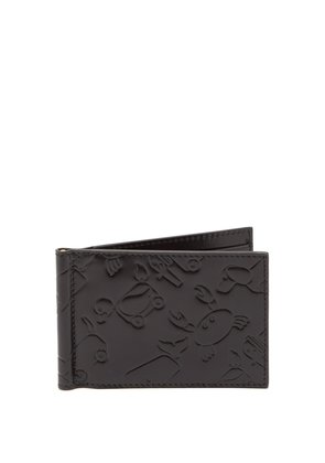 Toy Icon-embossed leather bi-fold wallet