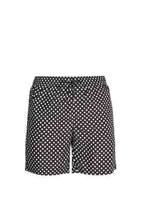 Polka-dot swim shorts