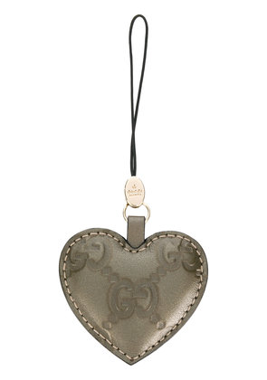 Gucci heart embossed keyring - Green
