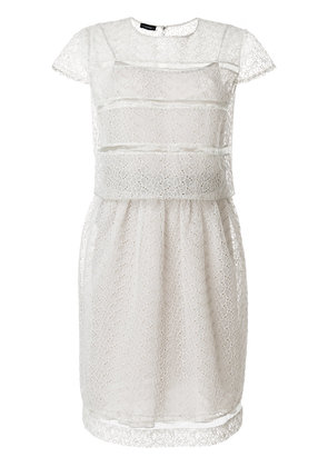 Emporio Armani sheer broderie anglaise dress - Grey