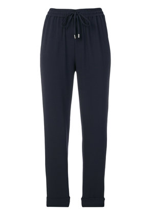 Emporio Armani cropped jogger trousers - Blue