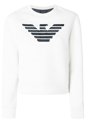 Emporio Armani logo patch sweatshirt - White