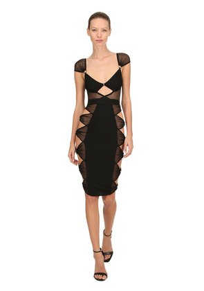 RINGSIDE CUTOUT MIDI DRESS