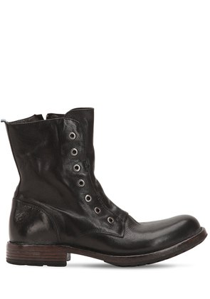 LEATHER BOOTS WITH EYELETS