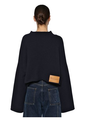OVERSIZE WOOL & CASHMERE KNIT SWEATER