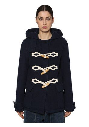 WOOL FELT DUFFLE COAT