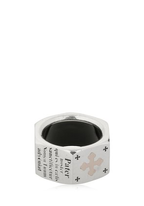 PATER NOSTRUM SILVER & ROSE GOLD RING