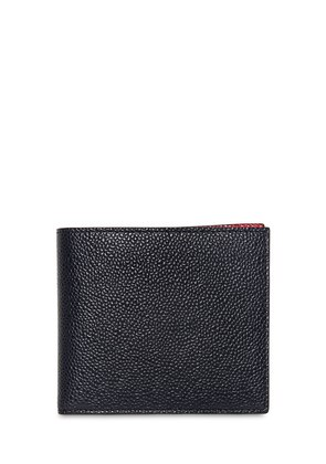 BICOLOR PEBBLED LEATHER CLASSIC WALLET