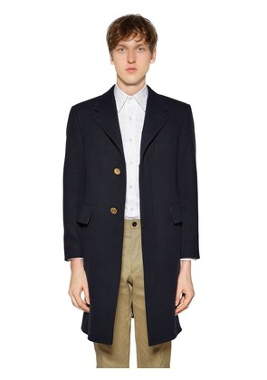 CHESTERFIELD WIDE LAPEL WOOL FELT COAT
