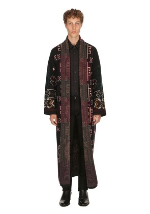 CARPET RIDE WOOL JACQUARD LONG COAT