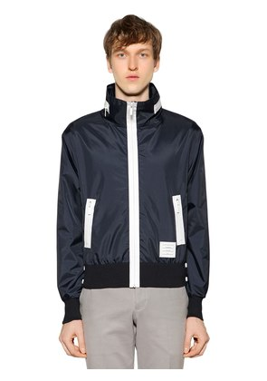 HOODED ZIP-UP LIGHTWEIGHT NYLON JACKET