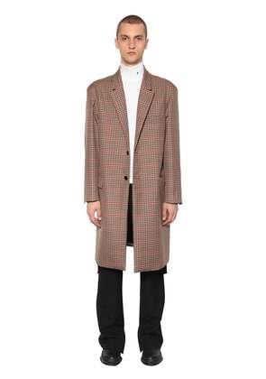 SINGLE BREAST WOOL & TRICOT COAT