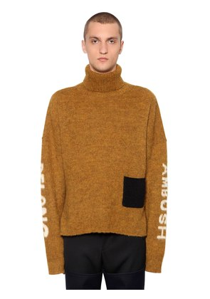 WOOL KNIT JACQUARD SWEATER