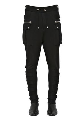COTTON JERSEY CARGO PANTS W/ BANDS