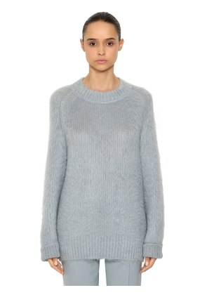 OVERSIZED MOHAIR & SILK KNIT SWEATER