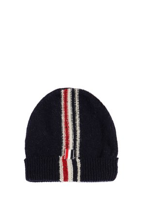 STRIPE INTARSIA WOOL & MOHAIR KNIT HAT