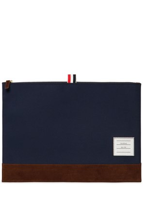 MEDIUM SOFT TECH NYLON & SUEDE POUCH