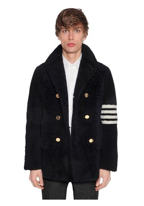 SHEARLING PEACOT W/ STRIPES