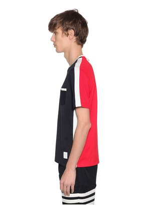 TWO TONE JERSEY T-SHIRT W/ SIDE STRIPES