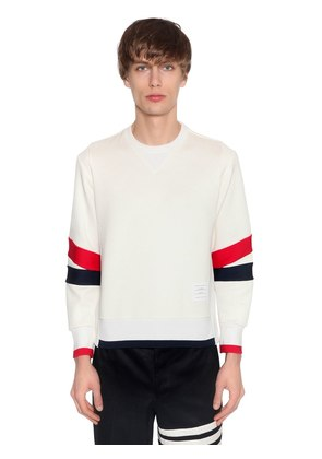 PATCHWORK JERSEY SWEATSHIRT W/ STRIPES