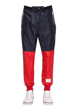 TWO TONE NYLON RIPSTOP TRACK PANTS