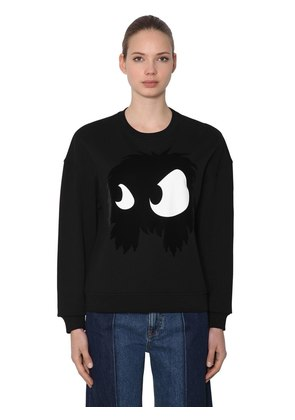 MONSTER FLOCKED COTTON SWEATSHIRT