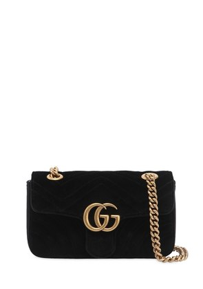 MINI GG MARMONT 2.0 VELVET SHOULDER BAG