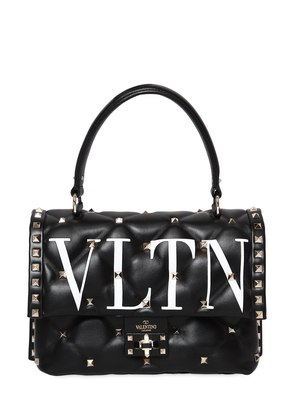 VLTN CANDY LEATHER TOP HANDLE BAG