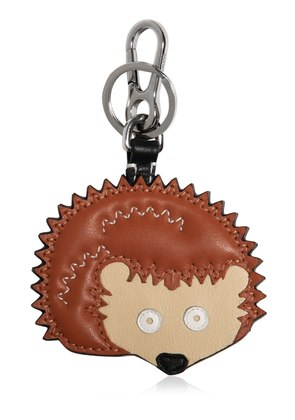 HEDGEHOG CHARM LEATHER KEY CHAIN
