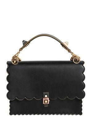 MEDIUM KAN I SCALLOPED LEATHER BAG