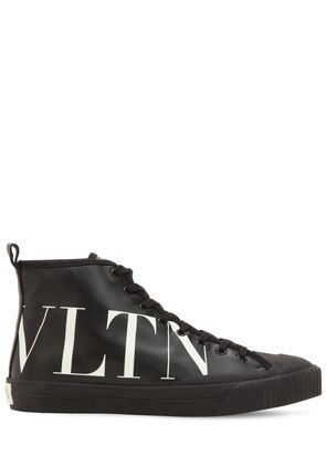 VLTN LEATHER HIGH TOP SNEAKERS