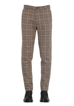 18CM WOOL HOUNDSTOOTH CHECK PANTS