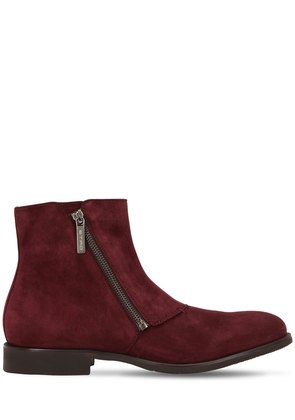 ZIP-UP SUEDE ANKLE BOOTS
