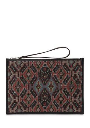 ETHNIC PRINTED LEATHER POUCH
