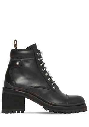80MM LEATHER ANKLE BOOTS