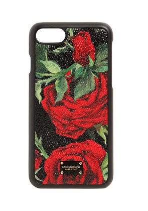 ROSE PRINT LEATHER IPHONE 8 PLUS COVER
