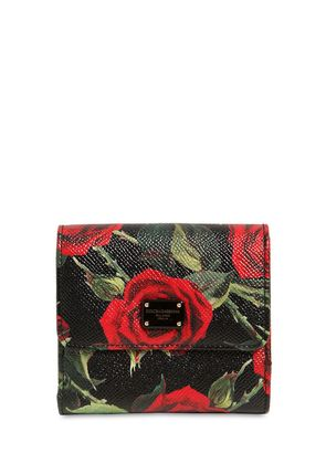 SMALL ROSES DAUPHINE LEATHER WALLET