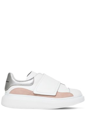 40MM LEATHER & SUEDE STRAP SNEAKERS