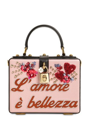 DOLCE BOX L'AMORE È BELLEZZA LEATHER BAG
