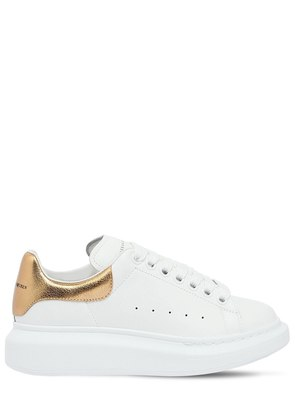 40MM LEATHER & METALLIC LEATHER SNEAKERS