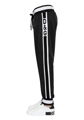 LOGO BAND NYLON TRACK PANTS