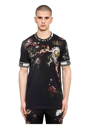 ANGEL PRINTED JERSEY T-SHIRT