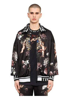 ANGELS PRINTED JERSEY TRACK JACKET