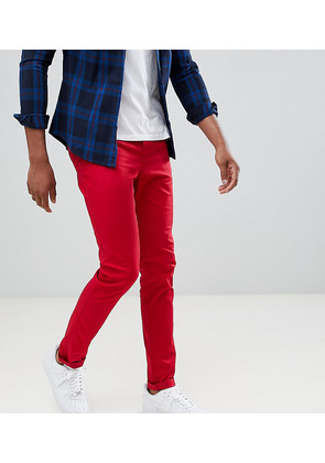 ASOS DESIGN Tall Skinny Chinos In Red - Chilli pepper