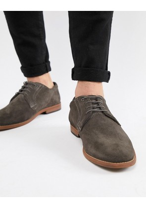 ASOS DESIGN Casual Shoes In Grey Suede With Natural Sole - Grey