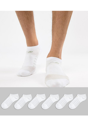 New Balance 6 Pack No Show Socks In White N4010-032-6EU WHT - White