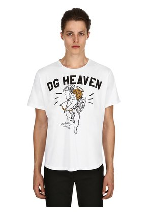 ANGEL PRINTED COTTON JERSEY T-SHIRT