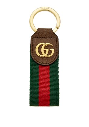 Ophidia tricolour leather keyring